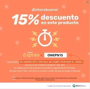 DESCUENTO 15% EN DOSFARMA