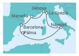 Crucero de 8 días por el Mediterraneo desde 219€
