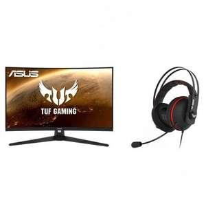 "Asus TUF Gaming VG32VQ1BR 31.5"" LED QHD 165Hz FreeSync Premium Curva + TUF Gaming H7 Core Auriculare"