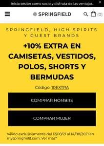 Remate final hasta 70% + 10% extra en Springfield, High Spirits Y Guest Brands