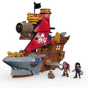 Juguete Imaginext Caribe Barco Pirata Tiburón