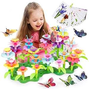 Juguete Jardín de Flores de Construcción (123 piezas)