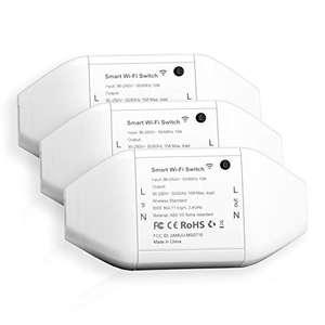 3 Interruptores Universales Inteligentes con Wi-Fi