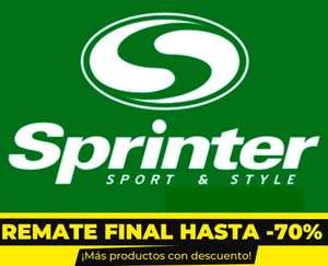 Hasta 70% DTO + 5% EXTRA en Remate Final en Sprinter