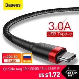 Baseus-Cable para USB de tipo C QC 3.0