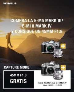 Olympus E-M5 mark III o E-M10 Mark IV + objetivo 45mm f1.8