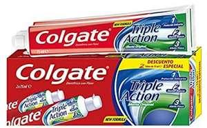 4 pastas de dientes Colgate Triple Action 75ml [a 0,72€ el dentífrico]   También en Carrefour