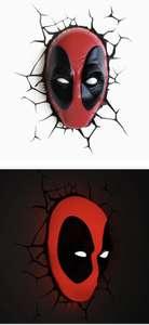 luz nocturna decorativa 3D de Deadpool