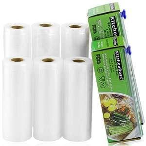 Rollos Bolsa de vacío gofrada 3 15x500cm y 3 20x500cm