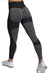 Pantalones de Yoga de Punto Sin Costuras para Mujer,