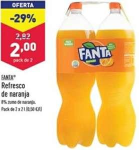 2 botellas de 2L Fanta de Naranja a partir del 18 de agosto