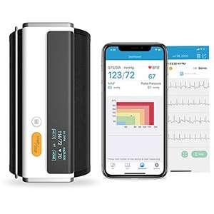 Tensiómetro de Brazo Digital con Función de ECG, Monitor para la Presión Arterial (iOS y Android)