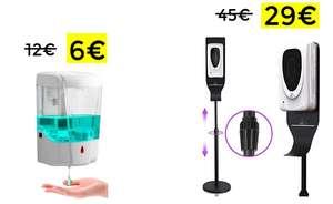 Dispensador jabón 700 ml sin contacto y dispensador con soporte
