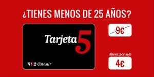 Tarjeta5 de Cinesur (1 año) + Palomitas 150g