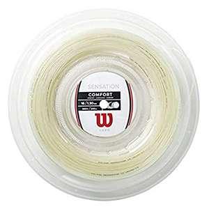 Cordaje para raquetas de tenis Wilson Sensation 17, diámetro 1.25 mm, 200 m
