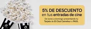 5% descuento en taquilla con la tarjeta Carrefour en los cines Artesiete Fan, Holea y Alfares