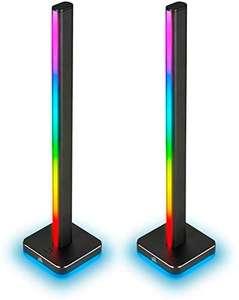 Corsair iCUE LT100 Kit de Inicio de Torres de Iluminación Inteligente Gaming, Dos Torres 422 mm de Alto con 46 LED Personalizables