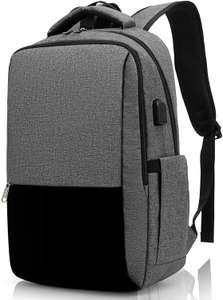 Mochila Impermeable para Ordenador Portátil de hasta 15.6 Pulgadas,Con Anillo de bloqueo antirrobo y Puerto USB