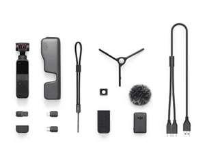Cámara deportiva - DJI Pocket 2 Creator Combo, 4K, Estabilizador de imagen, Micrófono, 64 MP, CMOS, Negro