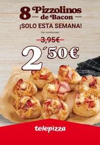 Oferta solo durante esta semana 8 Pizzolinos de bacon a 2.50 euros
