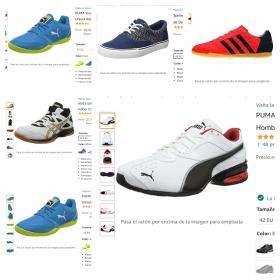 Zapatillas para Hombre diferentes modelos y tallas.