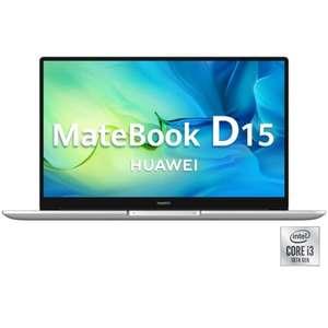 HUAWEI MateBook D 15 i3-10110U, 8GB+256GB, Intel® UHD, W10+ Cupón 100 € próxima compra.