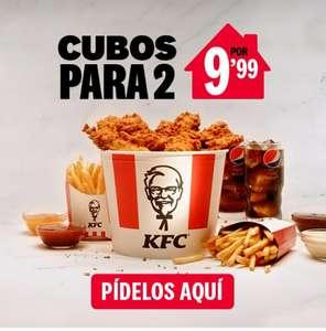 Menús KFC de cubos para 2 a 9,99€