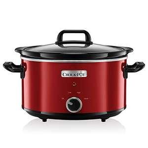 Crock-Pot SCV400RD Olla de cocción Lenta 210 W, 3.5 litros, Acero Inoxidable, Rojo