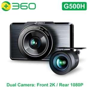 Kit cámara salpicadero 2K + Cámara trasera 1080P - Cámara Dual 160 grados 3,0 pulgadas iDVR 4MP WIFI mapas de Google GPS