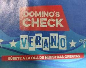 Chequera de ofertas Domino's Check (pizzas a 4,99€)