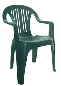 Silla de resina verde