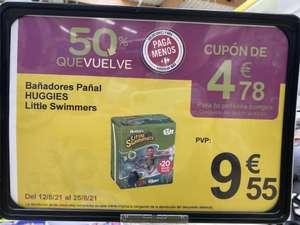 Pañales de agua por 9,55€ + cupón de 4.78€ para tu próxima compra