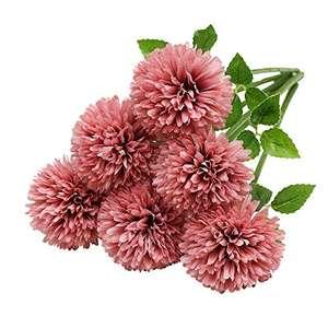 Flores de Hortensia Artificial, 6 Piezas de crisantemo de Seda