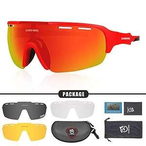 Queshark Gafas de Ciclismo Polarizadas pack 3 HD UV400