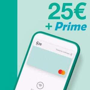 25€ + Amazon Prime GRATIS con N26