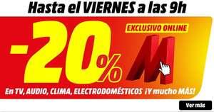 -20% solo online en muchas categorías (MediaMarkt)