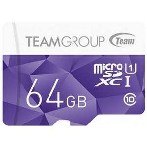 Tarjeta TeamGroup MicroSD 64GB + Adaptador SD
