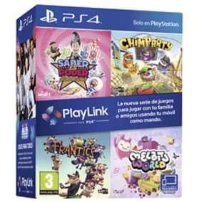 PS4 Pack Frantics + Saber es Poder Generaciones + Chimparty + Melbits