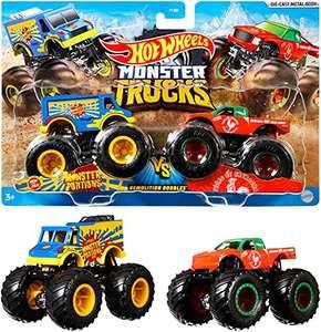 paquete de 2 Hot Wheels Monster Truck Duos FYJ64 de Demolición,