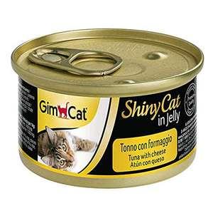 Gimcat shiny cat atun y queso, 24 x 70g (gatos)