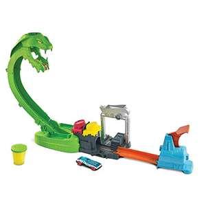 Hot Wheels Ataque de la cobra tóxica con slime, pista para coches de juguete con 1 vehículo