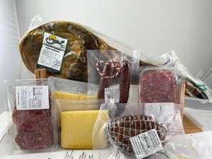 Lote paletilla extremeña + salchichón + queso + morcón + morcilla