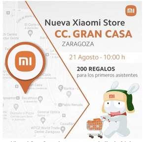 Zaragoza, Regalos por apertura de tienda Xiaomi