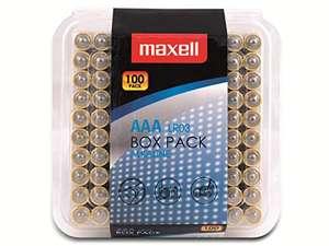 Pack de 100 pilas alcalinas AAA Maxell