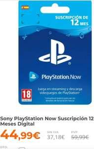 Sony PlayStation Now Suscripción 12 Meses Digital