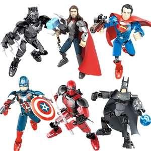 Figuras de acción de superhéroes de Los Vengadores para niños, Spiderman, Deadpool, Batman, Superman, Marvel,..