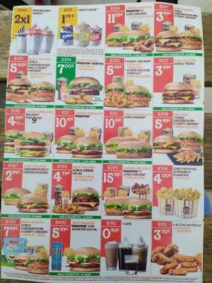 Descuentos varios de Burger King