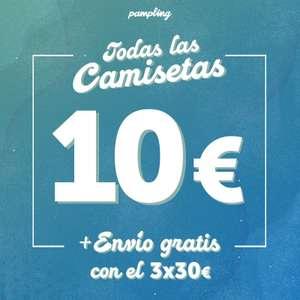 Camisetas Pampling 3x30€ + pegatina sorpresa