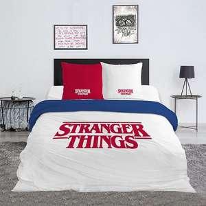 """Juego de cama doble """"Stranger things"""" 65% de descuento"""