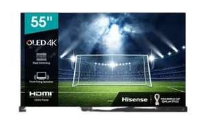 "TV OLED 55"" - Hisense 55A9G, 4K UHD Premium, Smart TV, IMAX Enhanced, HDR 10+, 120Hz, Dolby Vision IQ, Negro"
